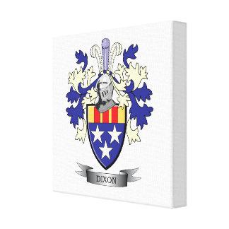 Dixon Family Crest Coat of Arms Canvas Print