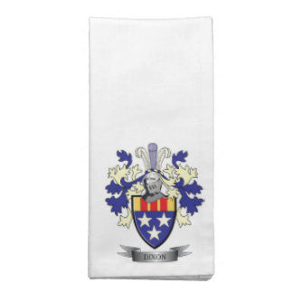Dixon Family Crest Coat of Arms Napkin