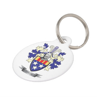 Dixon Family Crest Coat of Arms Pet Tag