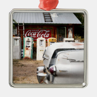 Dixon, New Mexico, United States. Vintage car Metal Ornament