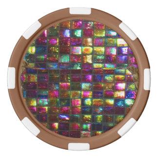 DIY 256 background n edge colour options dropdown Poker Chip Set