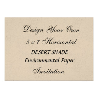 DIY 5 x 7 DESERT SHADE Environmental HORIZONTAL Personalized Announcements