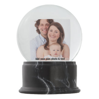 DIY - Add your own photo and text Snow Globe