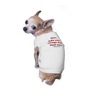 DIY Add Your Own Text and Image Custom V1 Sleeveless Dog Shirt