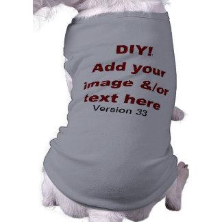 DIY Add Your Own Text and Image Custom V33 Sleeveless Dog Shirt