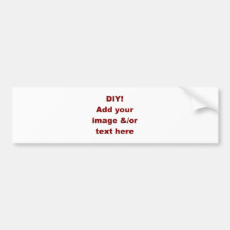 DIY Add Your Own Text and Image Custom Zazzle Item Bumper Sticker