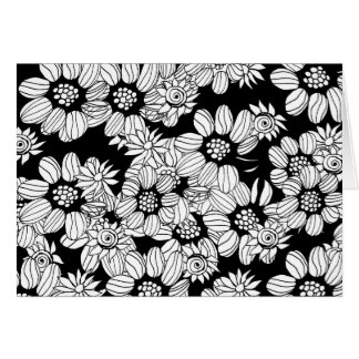 DIY Adult Coloring Flower Garden Card