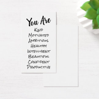DIY Affirmation Cards Listing Positive Qualities