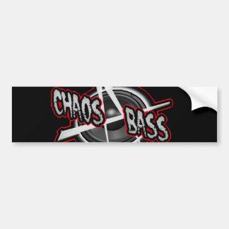 DIY Anarchy Chaos Metal Bass UK Punk shirt Bumper Sticker