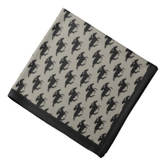 DIY Any Color/Black Race Horses and Border Bandana