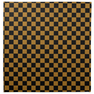 DIY Any Color/Matte Gold Checkered Napkin