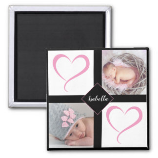 DIY Baby Girl Love Photos Magnet