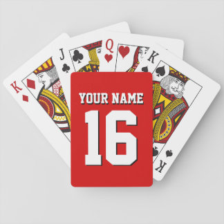 DIY Background Red Sports Jersey Team Jersey Playing Cards