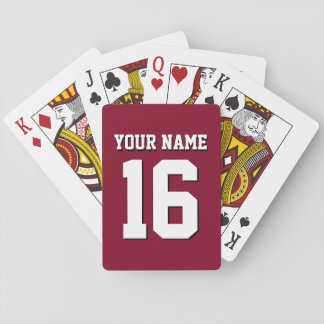 DIY Background Sports Jersey Team Jersey Burgundy Playing Cards