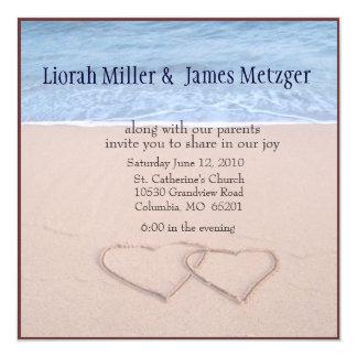 diy Beach Wedding Invitation
