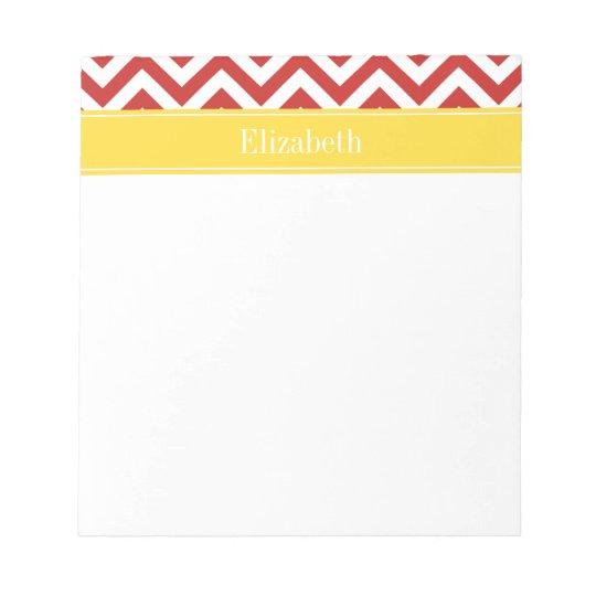 DIY BG Lg Chevron Pineapple Name Monogram Notepad