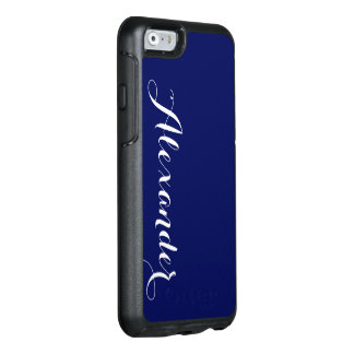 DIY Color Background, Name Monogram NB OtterBox iPhone 6/6s Case