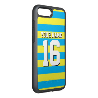 DIY Color BG, Yellow Team Jersey Preppy Stripe OtterBox Symmetry iPhone 7 Plus Case