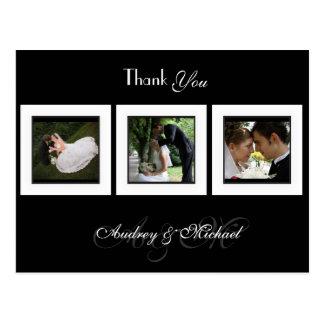 DIY COLOR/WEDDING PHOTOS THANK YOU POSTCARD