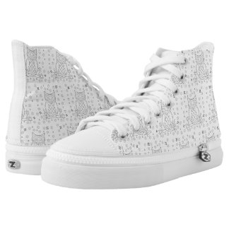 DIY Color Your Own Owl High Tops