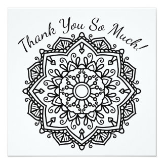 DIY Color Your Own Thank You Heart Half Mandala Card