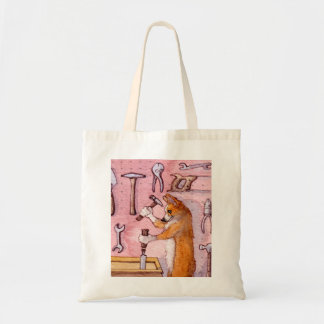 DIY Corgi dog, tote bag