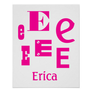 DIY Create Your Own Baby Name Any Letter V06 Poster
