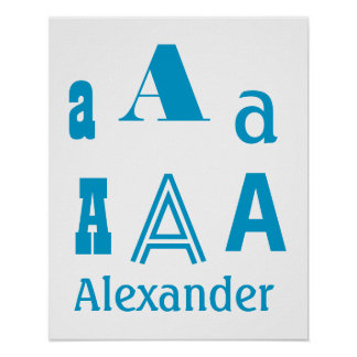 DIY Create Your Own Baby Name Any Letter V30 Poster