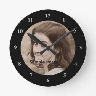 DIY Create Your Own Design | Personalized Photo Round Clock