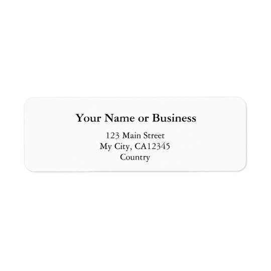 DIY, Create your own home, office and business Return Address Label