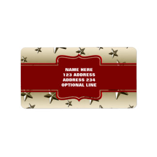 DIY Create Your Own Personalized Gold Stars Address Label