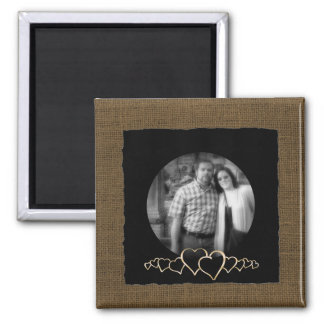 DIY Create Your Own | Rustic Personalized Photo Magnet