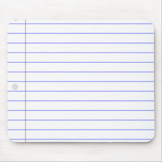 DIY CUSTOM NOTEBOOK PAPER BLOCK WITH THIN LINES MOUSE PAD