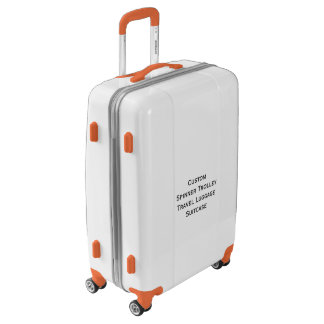 DIY Custom Spinner Travel Luggage Wedding Suitcase