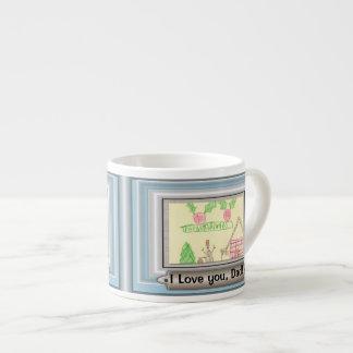 DIY Customizable Photo or Art Frame Espresso Mug