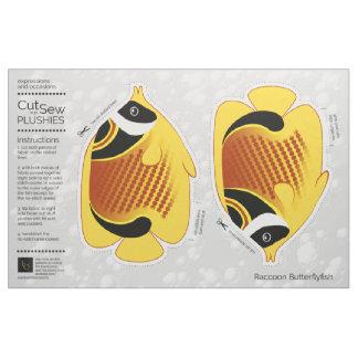 DIY Cut & Sew Plush Raccoon Butterflyfish Fabric