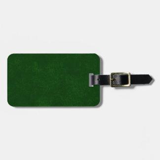 DIY Dark Green Background Custom Home Gift Idea Luggage Tag