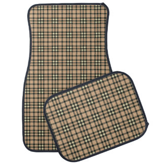 DIY Design Your Own Car Mats V005 TAN PLAID Floor Mat