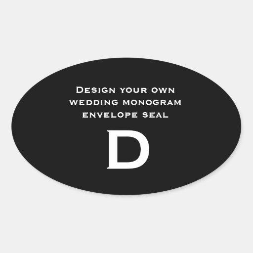DIY Design Your Own Custom Color Wedding Monogram Sticker