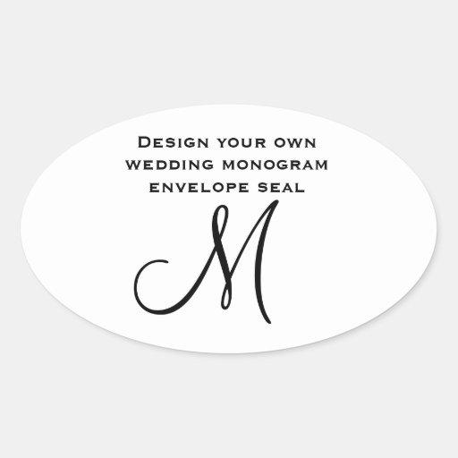 DIY Design Your Own Custom Color Wedding Monogram Stickers