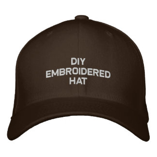DIY Design Your Own Embroidered Hat Chocolate H001