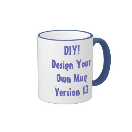 DIY Design Your Own Mug Purple and White Ver 13