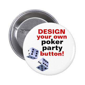 DIY Design Your Own Poker Party Casino Button Pin