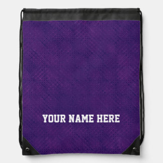 DIY Design Your Own Purple Dot Pattern Drawstring Bag