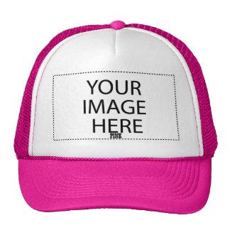 DIY Design Your Own Zazzle Gift V10 PINK Mesh Hats