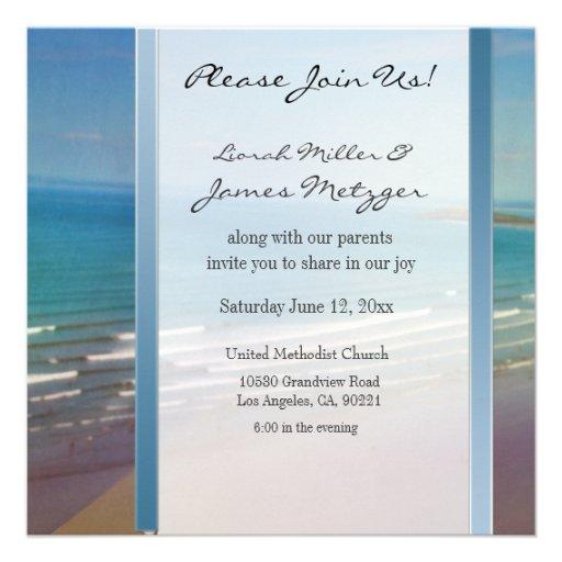 DIY Destination Beach Wedding Invitation Template 13 Cm X 13 Cm Square Invitation Card