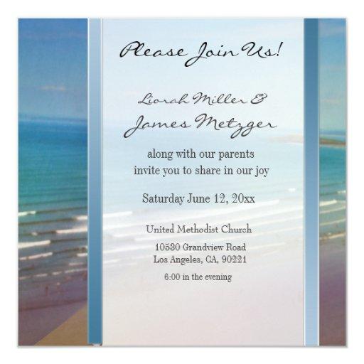 DIY Destination Beach Wedding Invitation Template