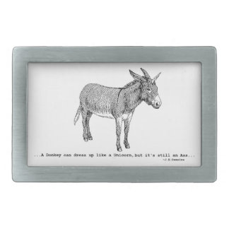 DIY DonkeyUnicorn ver2 Rectangular Belt Buckles