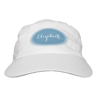 DIY FEATHERED OVAL French Blue Custom Name G03G Hat
