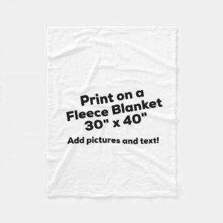 DIY FLEECE BLANKET - Add pics and text!